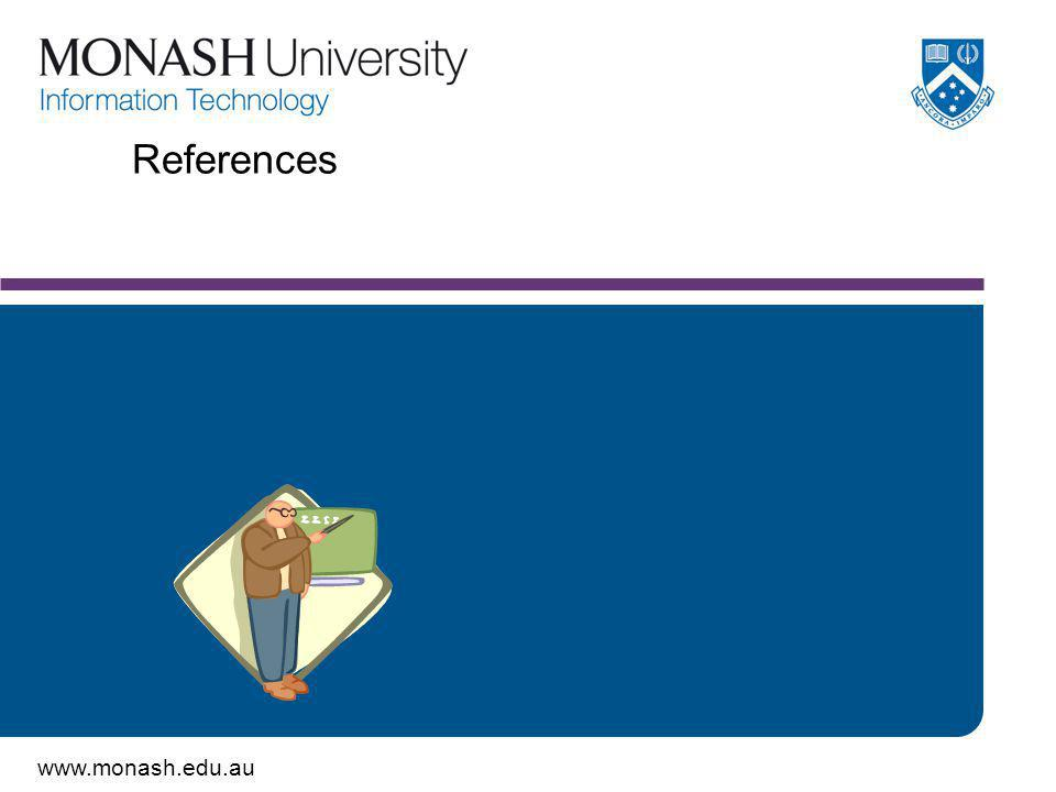 www.monash.edu.au References
