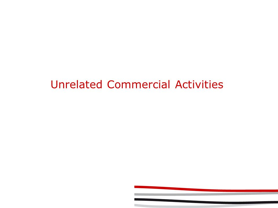 'Better Targeting of Not-for-profit Tax Concessions' Government to reform the use of tax concessions by businesses run by NFP entities Will cover 'Unrelated Commercial Activities' (UCAs) Started 1 July 2012??.