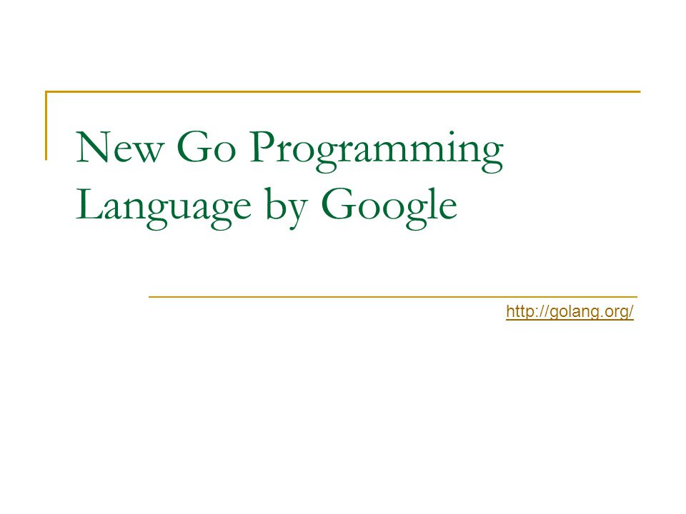New Go Programming Language by Google http://golang.org/