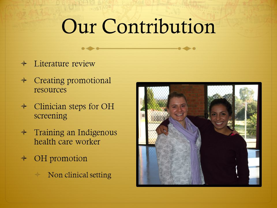 Understanding Queanbeyan's Indigenous Community  Opportunistic & flexible  Political & social challenges  Need & value of an Indigenous health worker  Communication  Cultural understanding  Premature aging  Other discrepancies