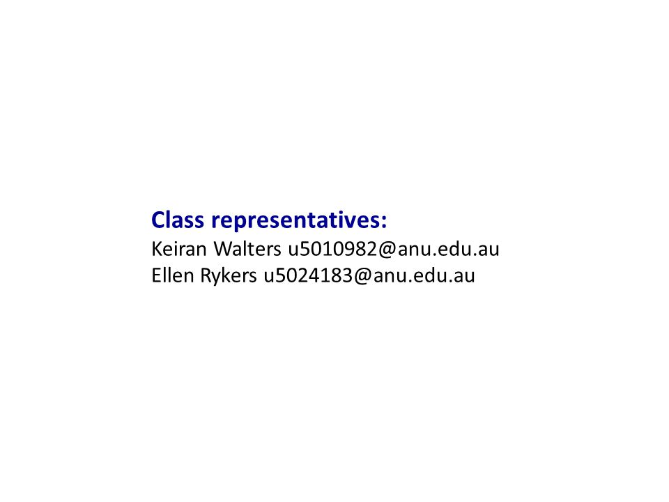 Class representatives: Keiran Walters Ellen Rykers