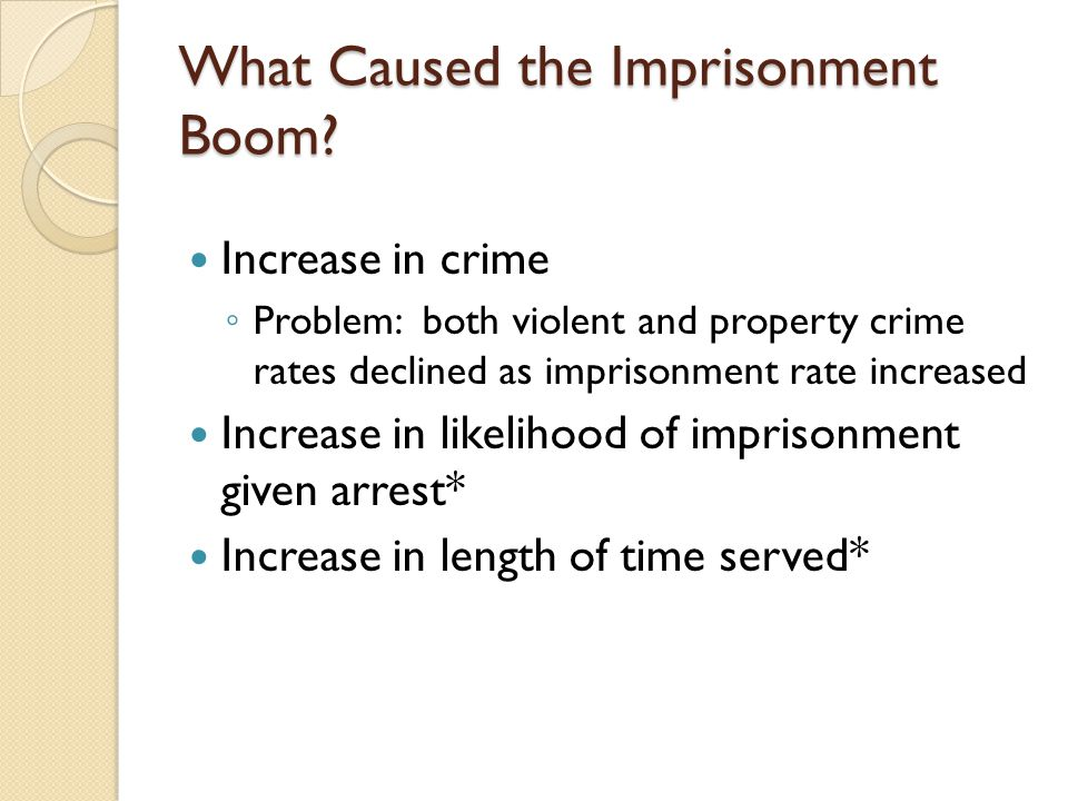 What Caused the Imprisonment Boom.