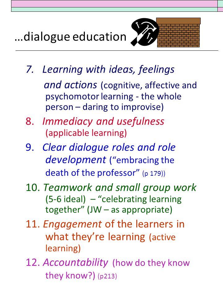 …dialogue education 7.