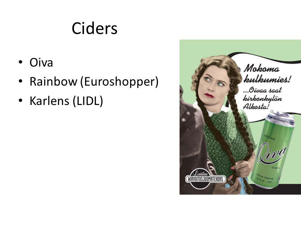 Ciders Oiva Rainbow (Euroshopper) Karlens (LIDL)