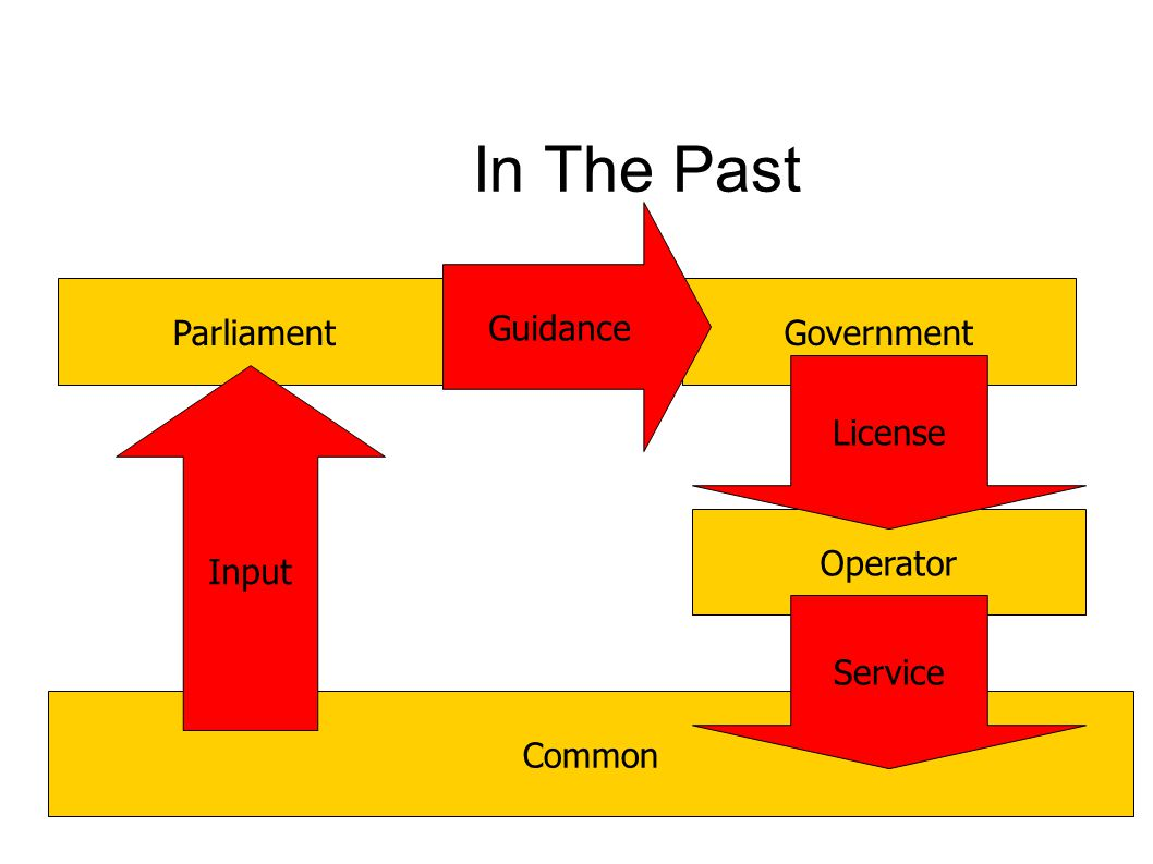 In The Past Common ParliamentGovernment Operator Input License Service Guidance