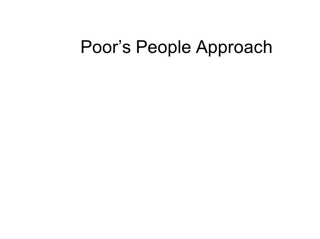 Poor's People Approach