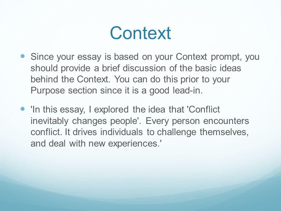 Context essay
