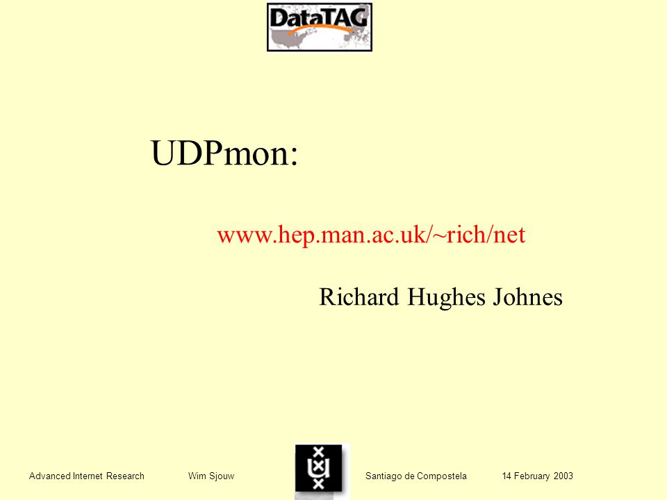 UDPmon:   Richard Hughes Johnes