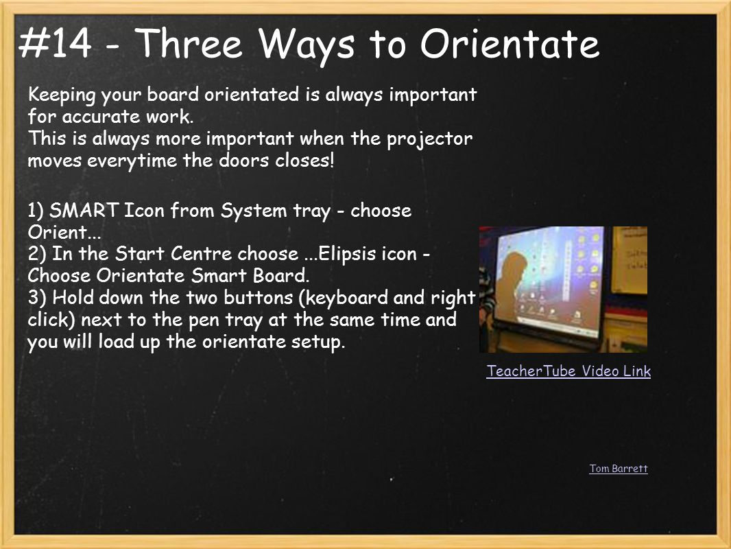 #14 - Three Ways to Orientate Keeping your board orientated is always important for accurate work. This is always more important when the projector mo