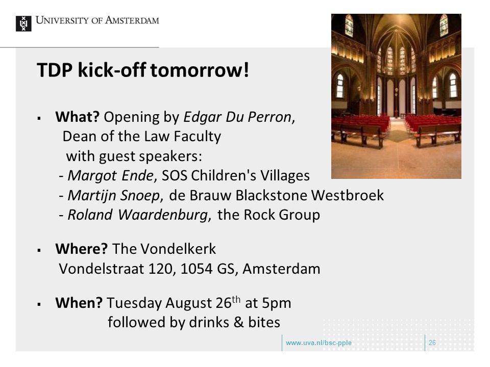 TDP kick-off tomorrow. What.