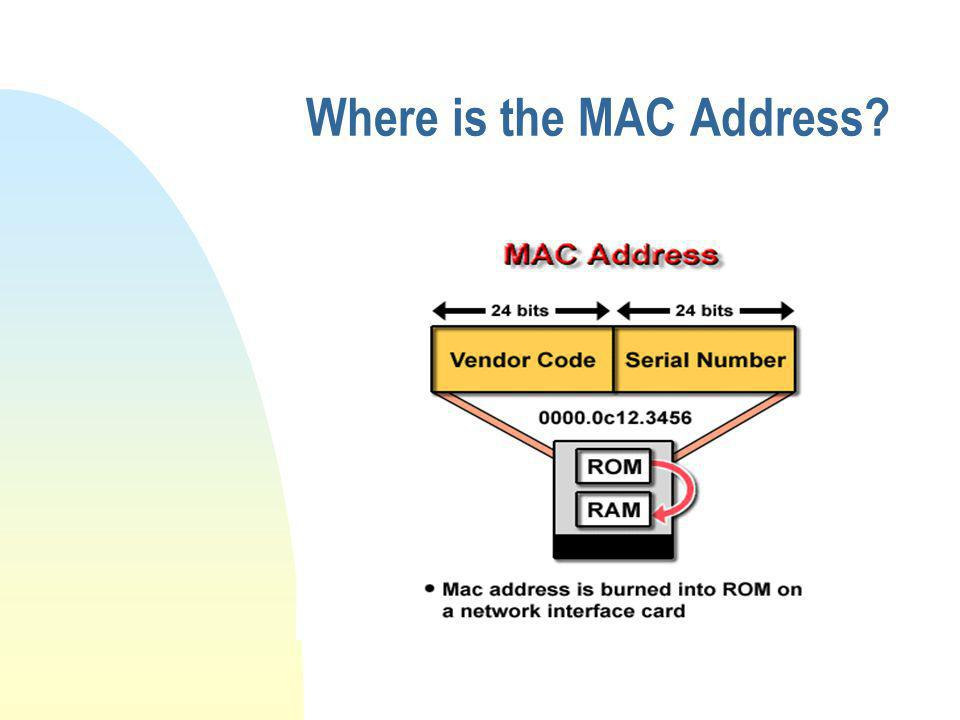 Where is the MAC Address?