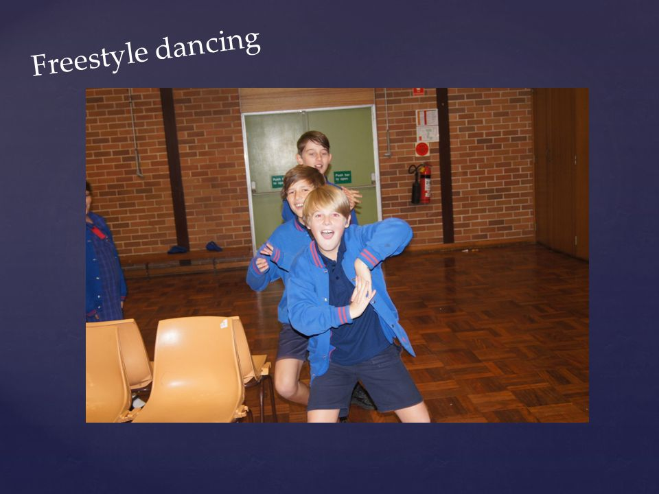 Freestyle dancing