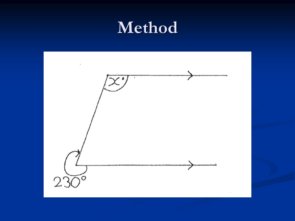 Method Materials  Testing materials ( with X for all groups) 8 Test questions: o similar to acquisition problems o same combination of theorems in same order but with different numbers o 7 two-step, 1 three-step 8 Transfer questions: o 4 with same combinations of theorems as in acquisition problems in inverted order o 4 with different combinations of theorems – different, unusual configurations ( see Ayres & Sweller, 1990) o 3 two-step, 5 three-step