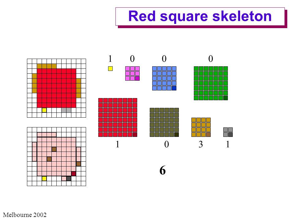 Melbourne 2002 Red square skeleton 1 1 0 3 0 0 0 1 6