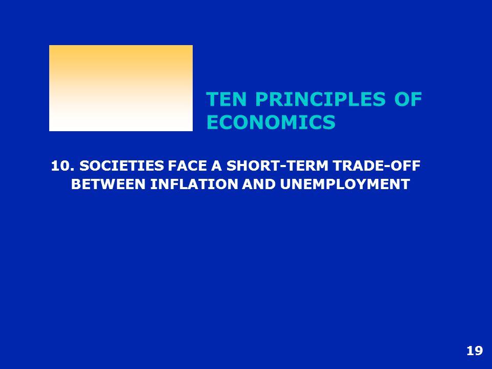19 TEN PRINCIPLES OF ECONOMICS 10.
