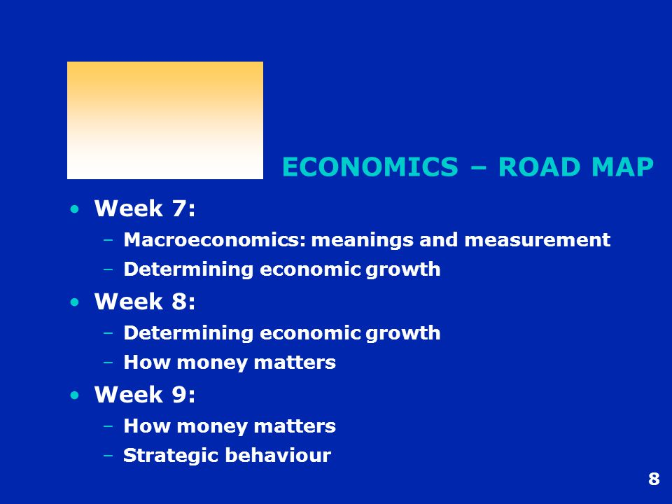9 ECONOMICS – FUTURE Further Economics at AGSM - Micro –Managerial Economics (Term 3) –Industry Economics (Term 4) –Strategic Contracting (Term 1/5) –Economic Investment Appraisal (Term 2/6) Further Economics at AGSM – Other –Strategic Game Theory for Managers (Term 3) –Macroeconomics for Managers (Term 3) –Trade and International Business (tba)