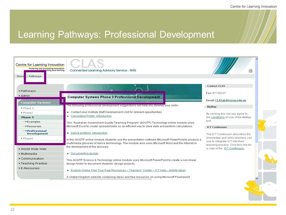 23 Learning Pathways: Professional Development