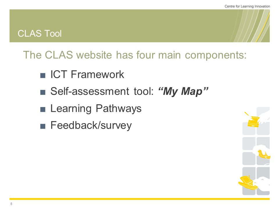 MyMap: self assessment tool (Reports: eg Bar graph)
