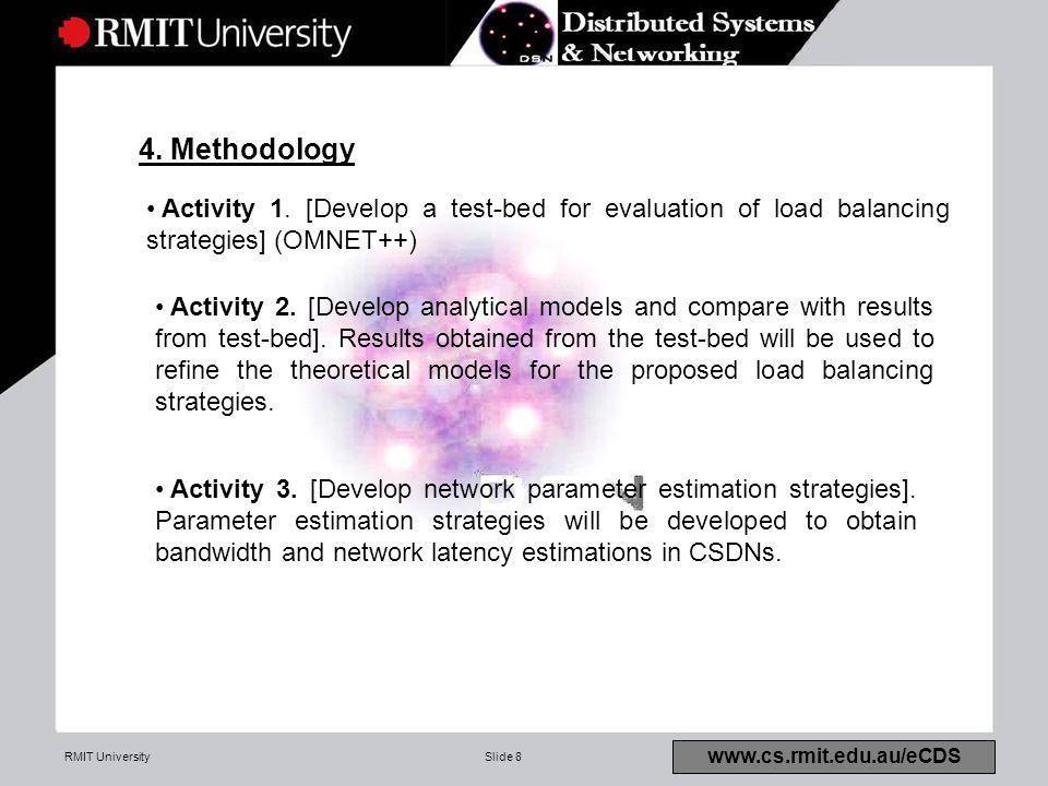 RMIT UniversitySlide 8 4. Methodology www.cs.rmit.edu.au/eCDS Activity 1.