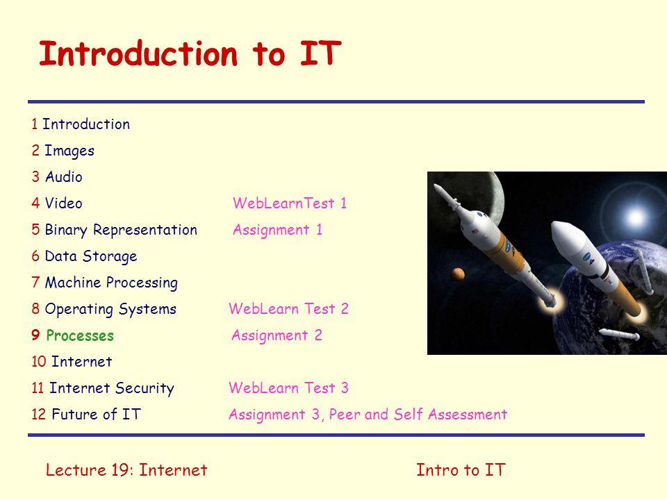 Lecture 19: InternetIntro to IT Protocols