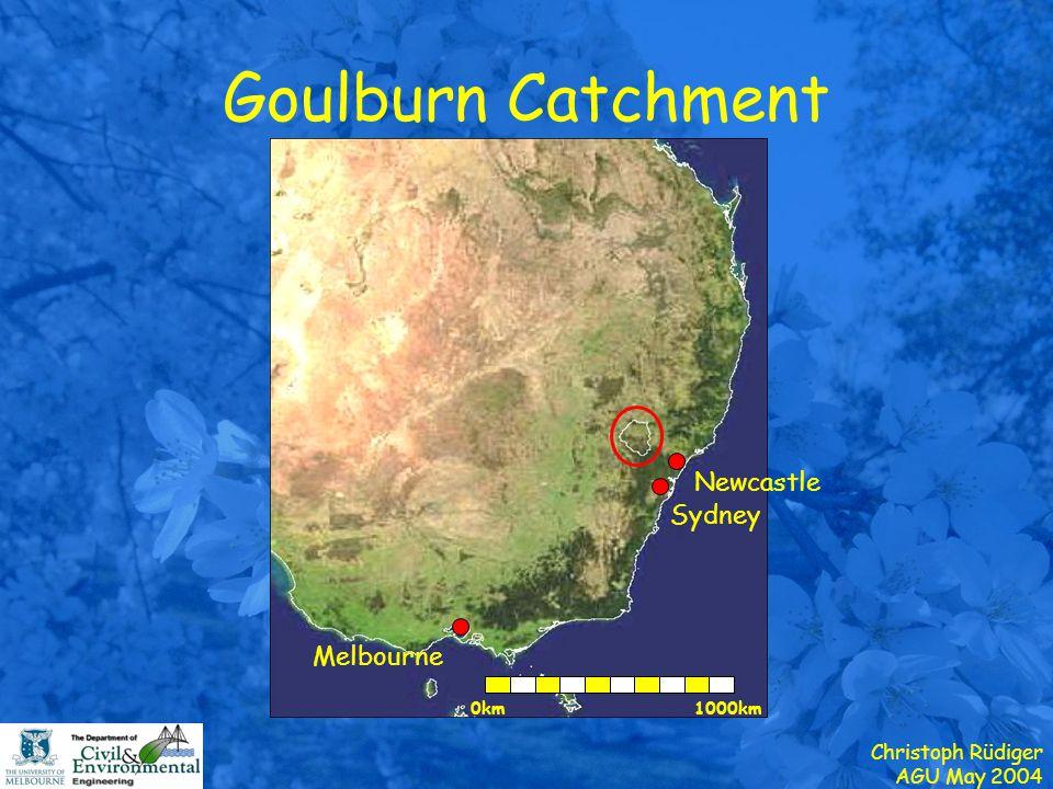 Christoph Rüdiger AGU May 2004 Goulburn Catchment Streamgauge Soil Moisture Climate www.civenv.unimelb.edu.au/~jwalker/data/oznet/