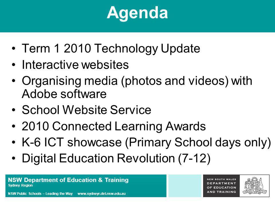NSW Department of Education & Training Sydney Region NSW Public Schools – Leading the Way www.sydneyr.det.nsw.edu.au Any Questions on passwords?