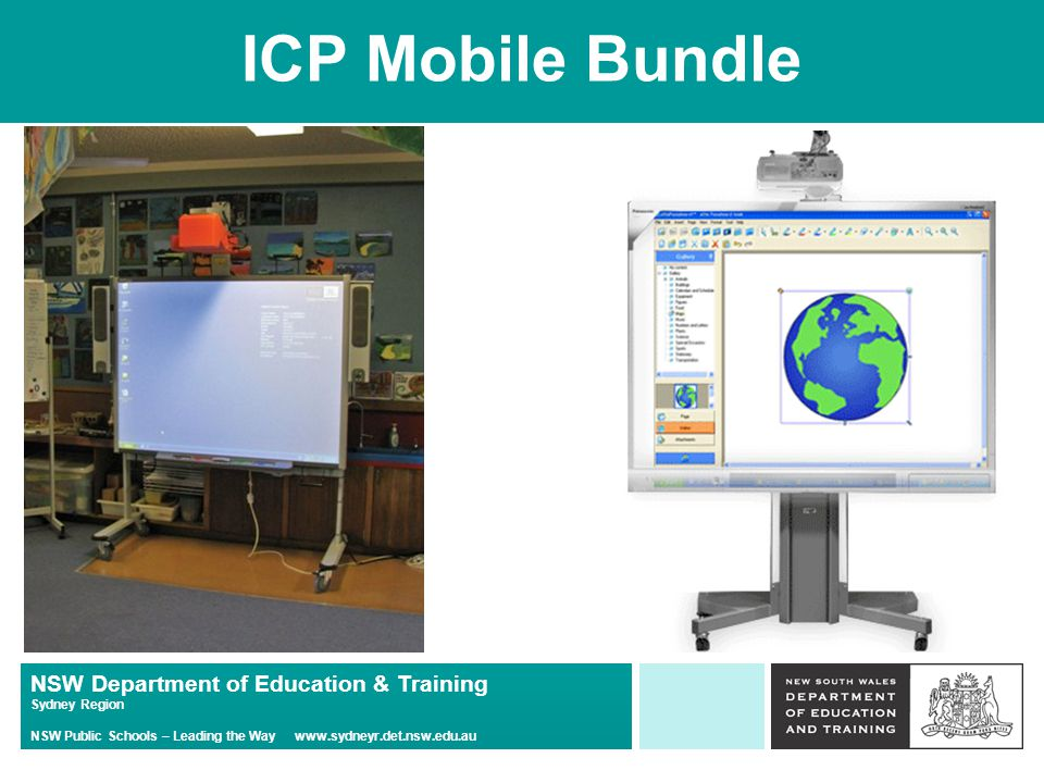 NSW Department of Education & Training Sydney Region NSW Public Schools – Leading the Way www.sydneyr.det.nsw.edu.au ICP Mobile Bundle
