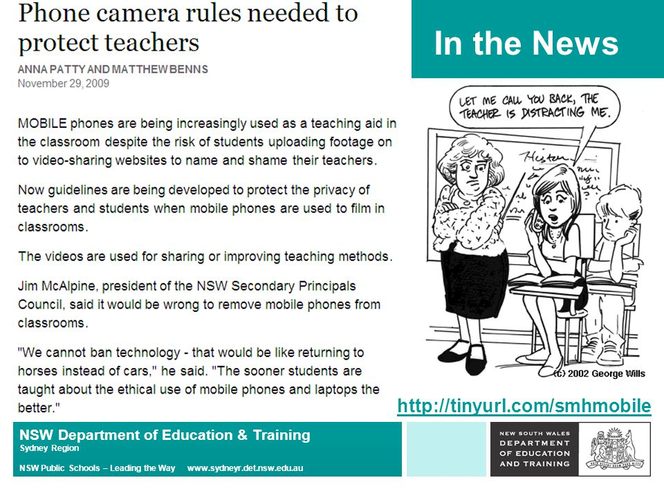 NSW Department of Education & Training Sydney Region NSW Public Schools – Leading the Way   In the News