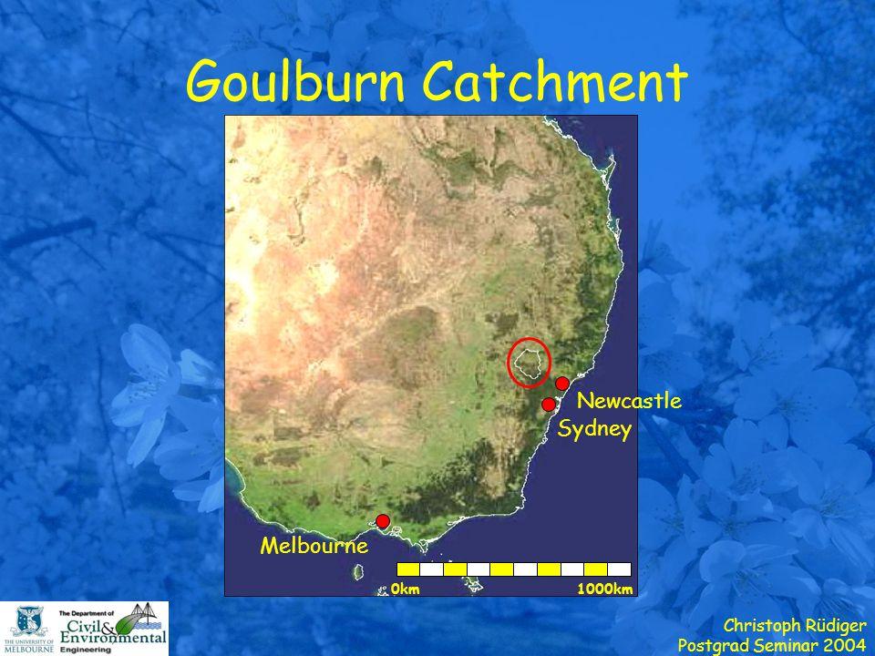 Christoph Rüdiger Postgrad Seminar 2004 Goulburn Catchment Melbourne Newcastle Sydney 1000km0km