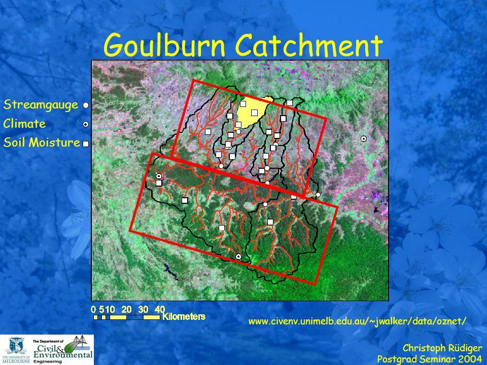 Christoph Rüdiger Postgrad Seminar 2004 Catchment Land Surface Model Koster et al., JGR, 2000 Saturation Depth Water Table Eq.