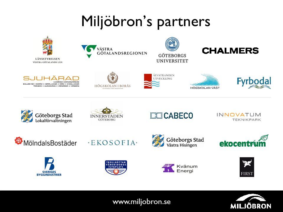 www.miljobron.se Miljöbron's partners