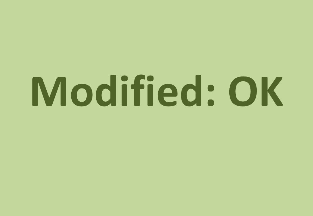 Modified: OK