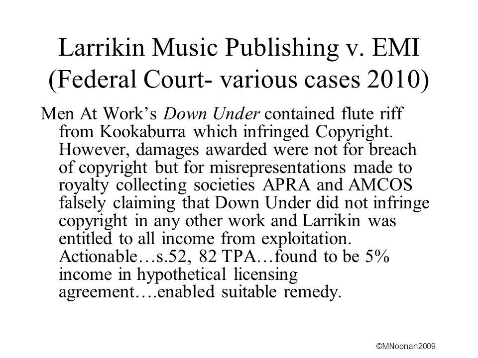 ©MNoonan2009 Larrikin Music Publishing v.