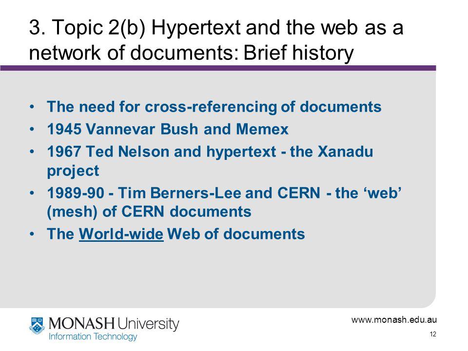 www.monash.edu.au 12 3.