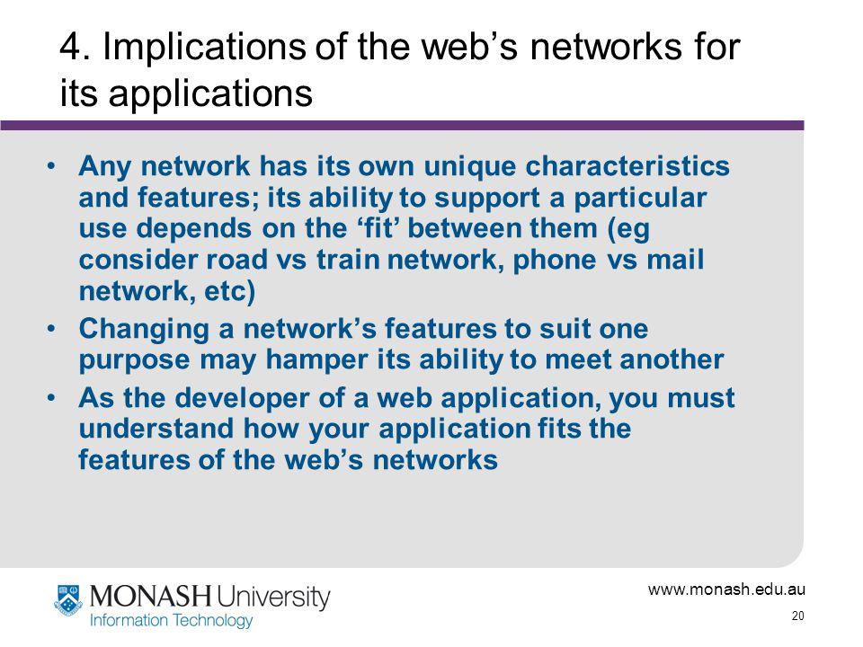 www.monash.edu.au 20 4.