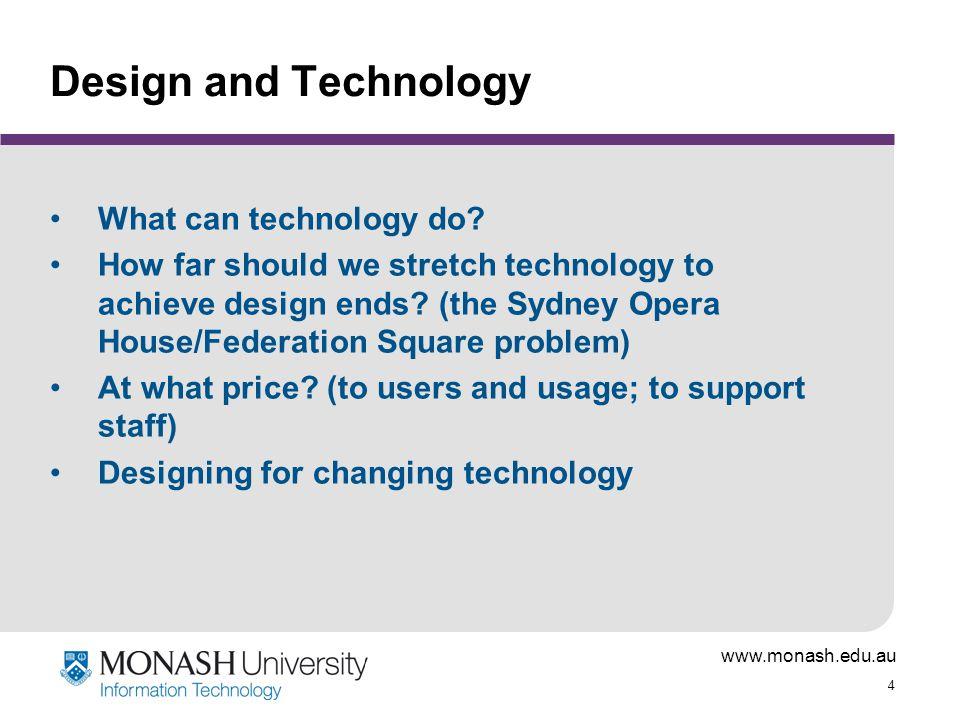 www.monash.edu.au 25 Structural elements Content boxes Site identifiers (logos, etc) Frames Windows Menu bars