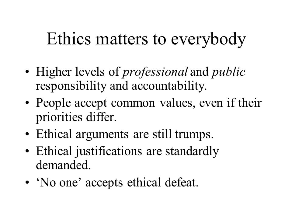 Isn't ethics just about following rules.