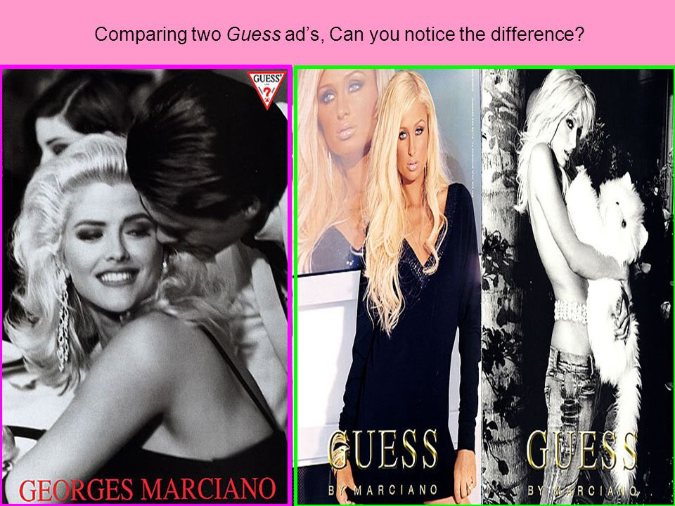 Comparing two Guess ad's, Can you notice the difference