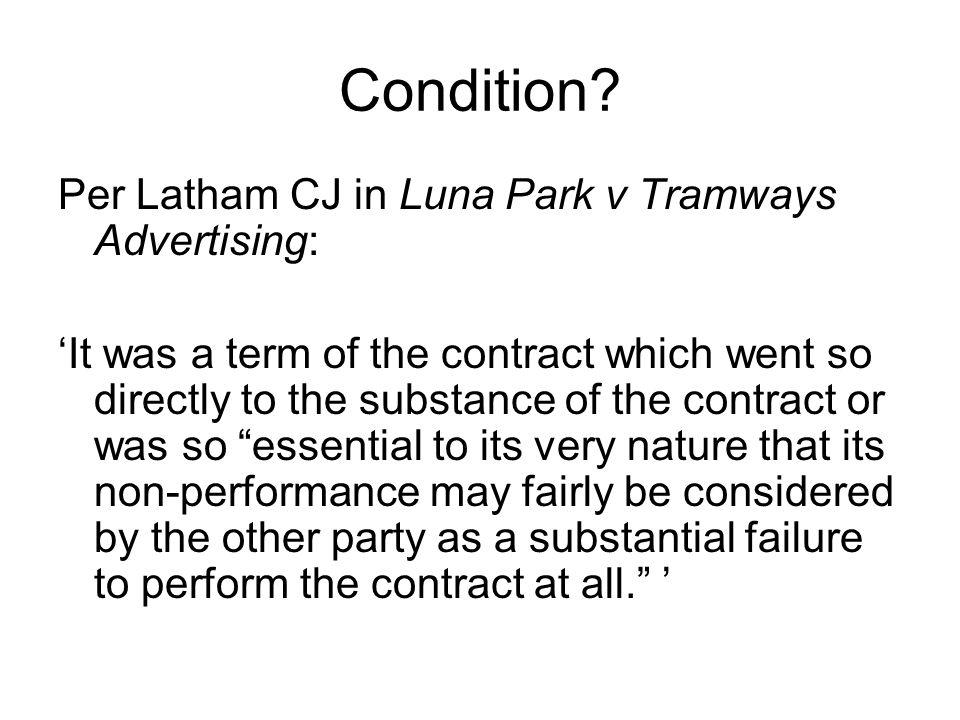 Condition.