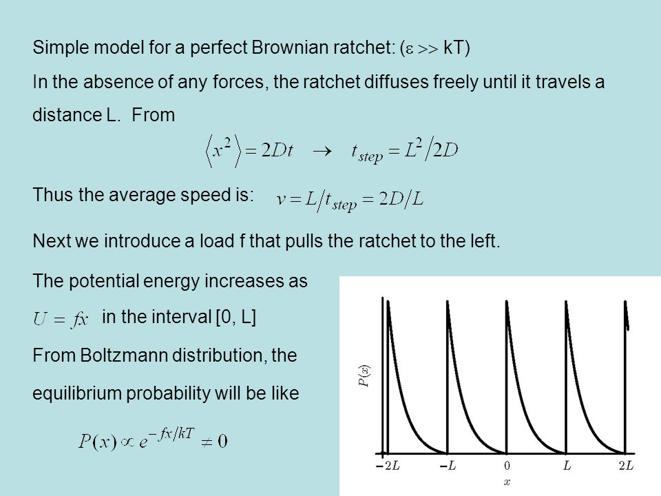 We need an equation to describe the nonequilibrium probability distribution of the ratchet's position (cf.