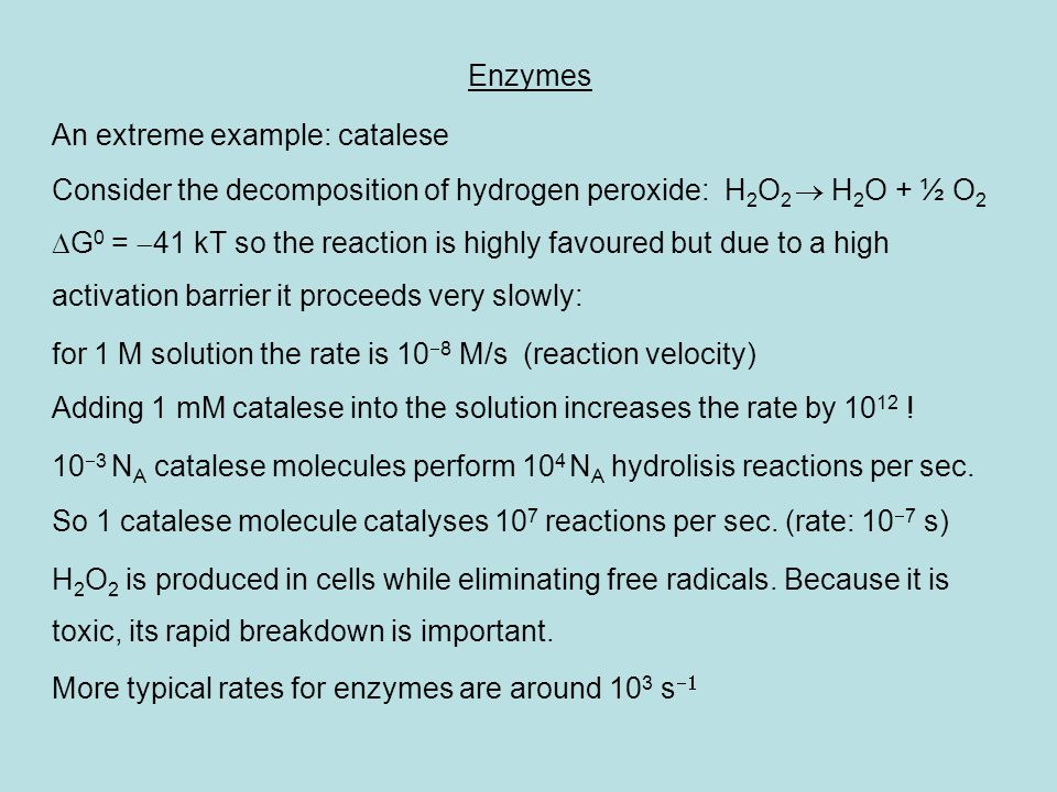 Simple model of enzyme reactions: Chemical reactions involving biomolecules are extremely complex.