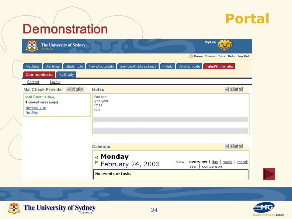 34 Portal Demonstration