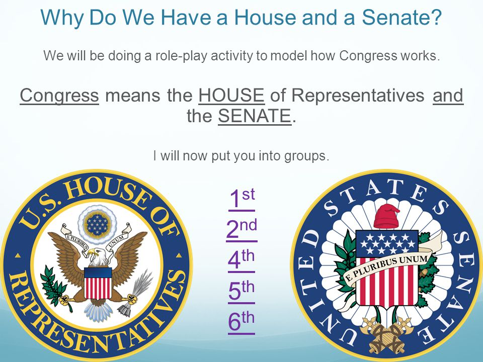 Why Do We Have a House and a Senate.