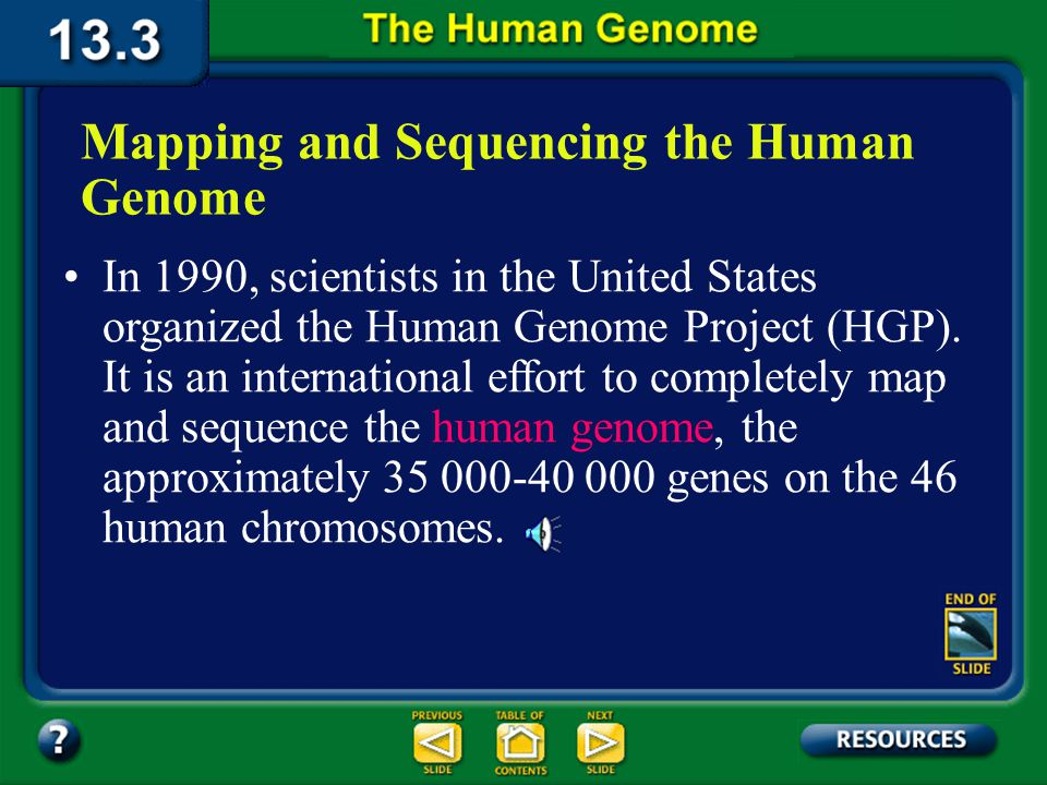 13.3 Section Objectives – page 349 Section Objectives: Analyze how the effort to completely map and sequence the human genome will advance human knowledge.