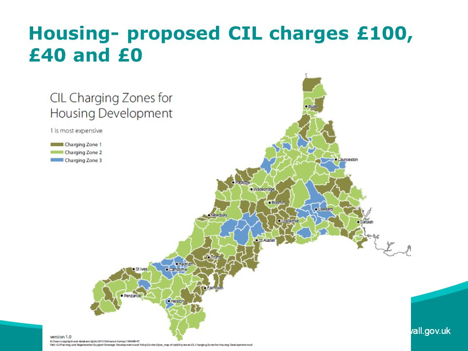 www.cornwall.gov.uk Housing- proposed CIL charges £100, £40 and £0