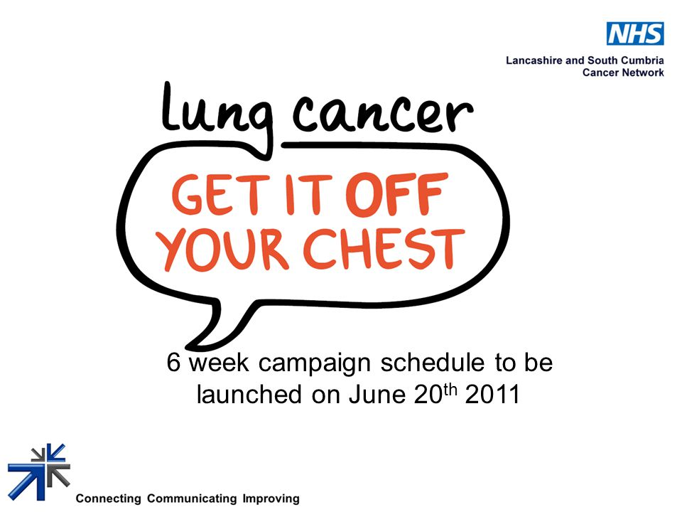 6 week campaign schedule to be launched on June 20 th 2011