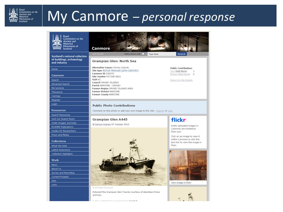 My Canmore – personal response