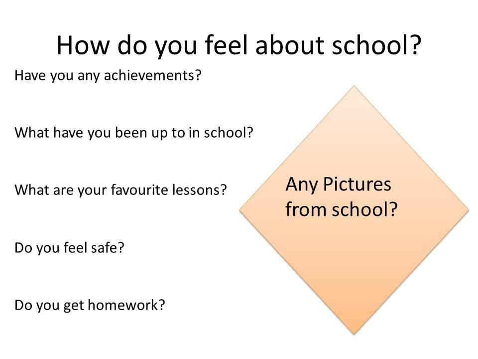 How do you feel about school. Have you any achievements.
