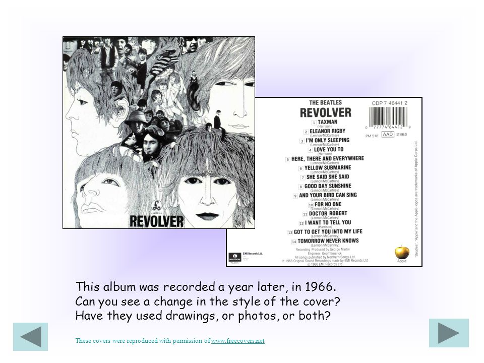 This album was recorded a year later, in 1966. Can you see a change in the style of the cover? Have they used drawings, or photos, or both? These cove