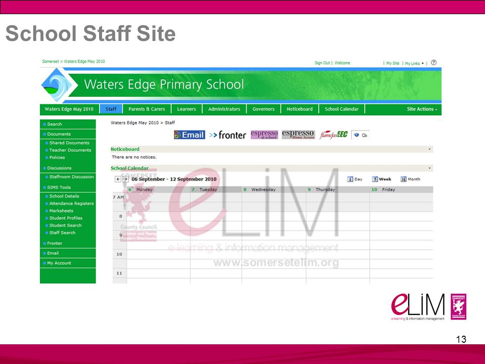 13 School Staff Site